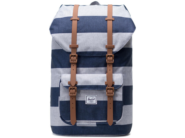 Herschel Little America Sac à dos, border stripe/saddle brown